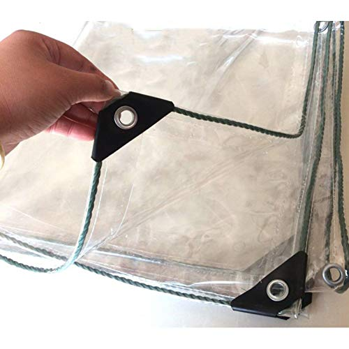 XINGLL Transparente Cobertura De Plástico, Lona Antienvejecimiento Resistente A La Tracción, Resistente Al Viento Y Al Polvo, Que Cubre La Carga Doméstica, 400G/㎡, 0,3Mm