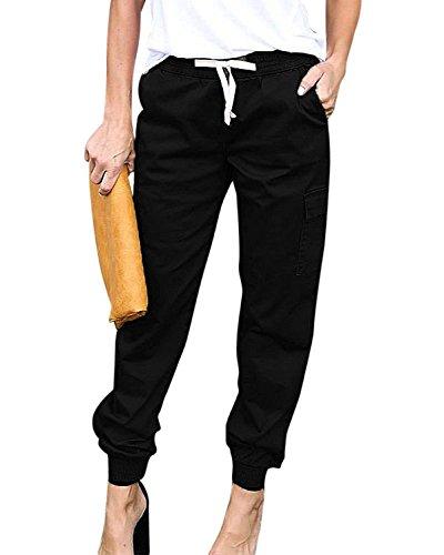 Pantalones De Tiempo Libre Mujer Elastische Taille con Cordón Pantalon Cargo Fashion Anchas Casuales Unicolor Elegantes Basicas Pantalones De Las Mujeres Pantalones Verano Disfraz