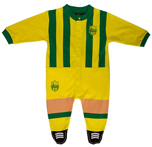 FC NANTES Grenouillère Pyjama Collection Officielle FCNA - Taille bébé garçon 12 Mois