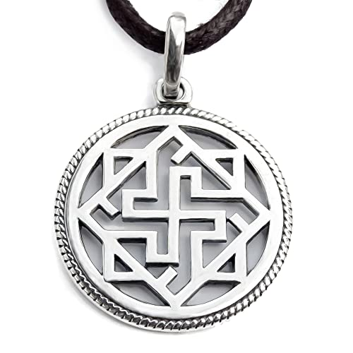 925 Sterling Silver Viking Valkyrie Pendant Necklace/Asatru Pagan Wiccan Jewelry/Ancient Odin Symbol/Norse Scandinavian Protection Amulet for Men and Women/Handmade