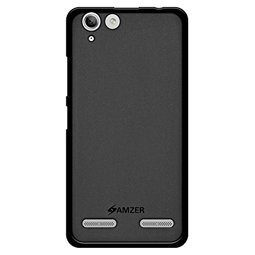 Amzer Pudding TPU Soft Gel Skin Case for Lenovo Vibe K5, Lenovo Vibe K5 Plus, Black