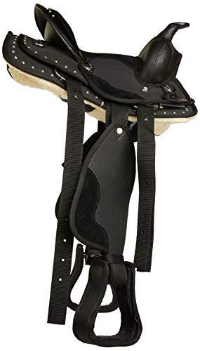 Cwell Equine Unisex Pony Westernsattel, Schwarz, Größe L
