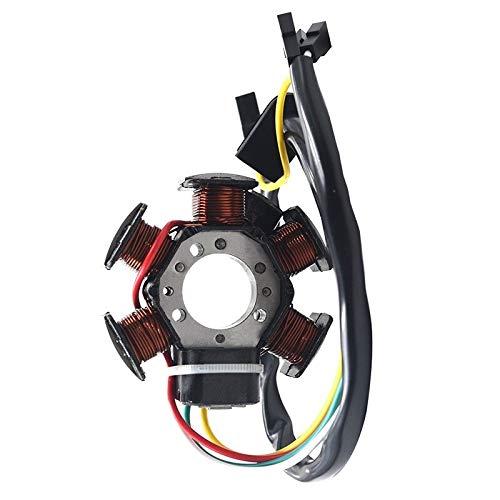 QIUXIANG Generador de Motocicletas Estator Plate Alternador Magnético Bobina Ajuste para Yamaha...