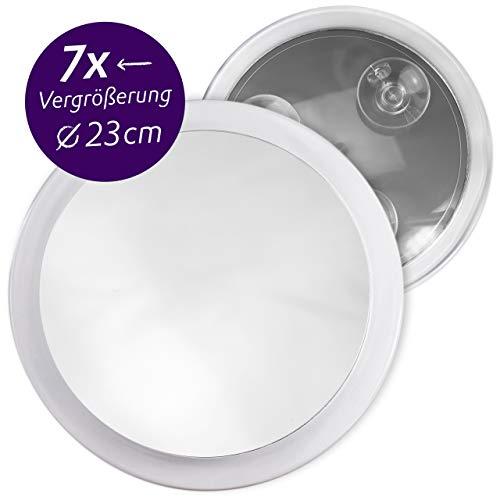 Fantasia - Espejo cosmético con Ventosa para Fijar a la Pared (7 aumentos, 23 cm), plástico
