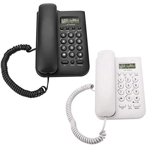ZARTPMO Teléfono Fijo Fijo Hotel En Casa con Cable Escritorio De Pared Teléfono Oficina Teléfono Fijo Teléfono Residencial