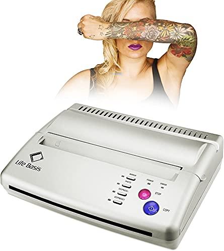 LifeBasis Machine de Transfert Tatouage Photocopieur Transfert Tatouage Imprimante Thermique Tattoo Copier Papier A5 A4 Machine a Tatouer Argent