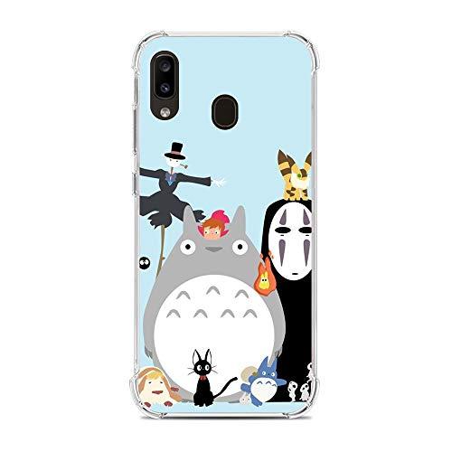 Vkspace Clear Soft Liquid Silicone Fundas Ultra Thin Case Cover for Samsung Galaxy A10e/A20e-Cute Totoro-Ghibli Anime Pattern 5