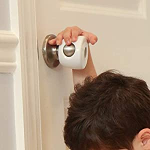 Door Knob Covers – 4 Pack – Child Safety Cover – Child Proof Doors by Jool Baby