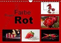 Powerfarbe Rot (Wandkalender 2022 DIN A4 quer): Die Farbe rot bringt Power, bringen Sie damit Leben an Ihre Wand (Monatskalender, 14 Seiten )
