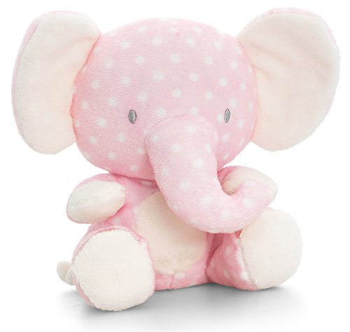 Lashuma Plüschtier Baby Elefant Rosa, Keel Kuscheltier mit Knisterohren, Dickhäuter Stoffelefant 16 cm