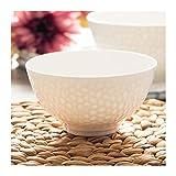 4.5/5/6 pulgadas, tazón de refrigerio de China de hueso, tazón de sopa, tazón de helado (Color : 5 inch)