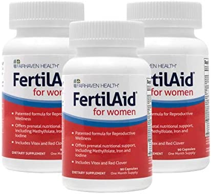 FertilAid for Women: Natural Fertility Vitamin with Vitex, Support Cycle Regularity and Ovulation