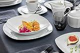 Sänger Geschirrservice 'Bilgola' aus Porzellan 36 teilig - Geschirrset beinhaltet Speise-, Suppen-, Dessertteller, Tassen (175 ml), passende Untersetzer sowie Schalen - Komplettservice für 6 Personen - 8