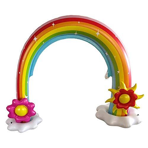 Kinder Regenbogen Planschbecken, Aufblasbare Regenbogen Wassersprinkleranlage, Großes Outdoor Yard Wasserspielzeug, Abnehmbares Wasserspielzeug für Kleinkinder Kinder Outdoor Wasserspaß