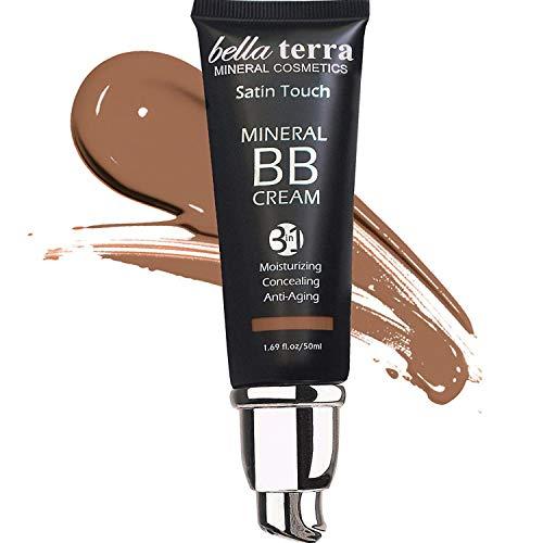 Bella Terra BB Cream, Tinted Moisturizer, Mineral Foundation, All Shades 1.69oz - Dark Tan 107