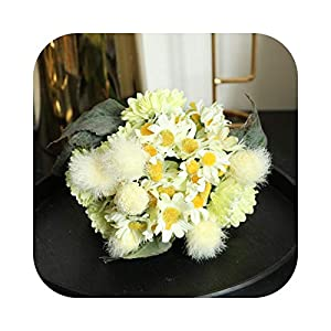 CX-5 Dandelion Bouquet Chrysanthemum Wedding Home Decoration Wedding Bouquet Artificial Flowers High-Grade Silk Flowers