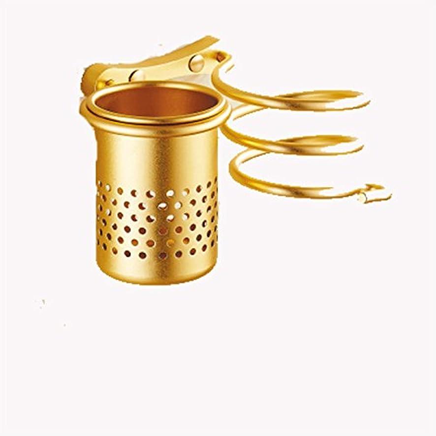 豆腐急襲神経衰弱Hhh ヘアドライヤーラック無料ヘアドライヤー、フレームフローティングディスプレイスタンド浴室壁金属収納ラックモダンウォールフレームデザインホームデコレーション jjj (Color : Gold)