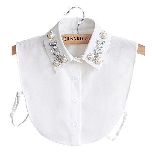 betoper women fake collar half