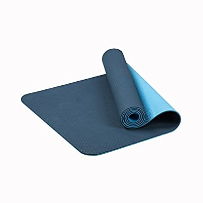 QYSM Non Slip Yoga Mat by Farland-Eco Friendly TPE Workout Exercise Mat,Anti-Tear Hot Pilates Pad Mats in Home & Gym-6mm Thick Deep Blue