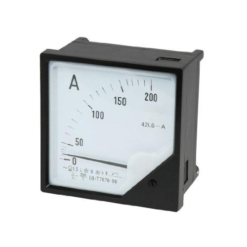 Aexit Kunststoffhülle AC 0-200A Analoges Messgerät Amperemeter 42L6-A (35d45dde534fff48317f43b554bac95e)