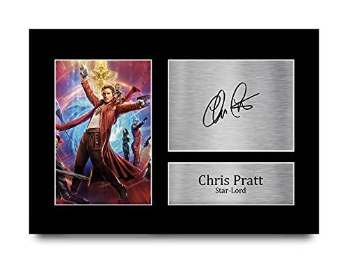HWC Trading Chris Pratt A4 Senza Cornice Firmato Regalo Visualizzazione delle Foto Print Immagine Autografo Stampato per Guardians of The Galaxy Gli Appassionati di Cinema