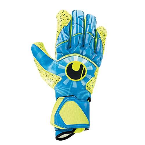 uhlsport Unisex– Erwachsene Control SUPERGRIP HN Torwarthandschuhe, Fußballhandschuhe, Radar blau/Fluo gelb/schw, 10
