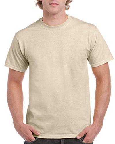 Gildan Men's G2000 Ultra Cotton Adult T-shirt, Sand, Small