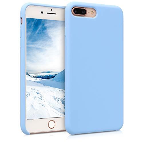 kwmobile Funda Compatible con Apple iPhone 7 Plus / 8 Plus - Carcasa de TPU para móvil - Cover Trasero en Azul grisáceo