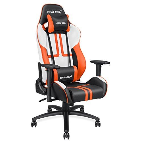 Anda Seat Sedia da Gioco, Default_No_Selection_Value, Nero, Arancione e Bianco, large