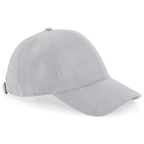 Beechfield - Gorra de ante unisex (One size/Gris claro)