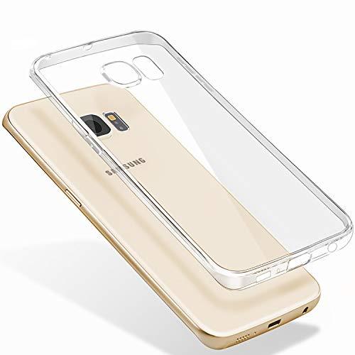 Whew Hülle Kompatibel Samsung Galaxy S7,Hochwertigem Crystal Transparente Flexibel Silikon Premium-TPU Handyhüllen,Anti-Kratzer, Anti-Dropping Schutzhülle Kompatibel Galaxy S7