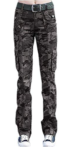 Camouflage broek dames elegante met herfst mode sportbroek casual lente moderne zakken knoopsluiting button slim fit comfortabel leger joggingbroek broek stretch sweatpants Pants Young Fashion Modern