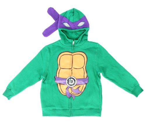Teenage Mutant Ninja Turtles Donatello Boys Costume Zip Up Hoodie Sweatshirt (Toddler 3T)