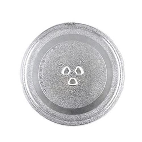 PUGONGYING Popular Microondas para Horno Accesorios de Plato Giratorio Bandeja de Cristal 24.5cm Bandeja de Bandeja de Soporte de núcleo Universal Durable
