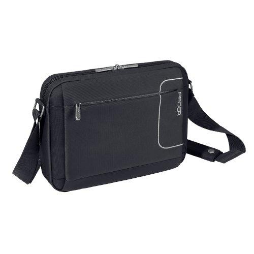 PEDEA Tablet Tasche 10,1 Zoll (25,9 cm) mit Zubehörfach & Schultergurt, schwarz