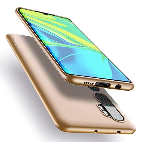 X-level für Xiaomi Mi Note 10 Hülle, für Xiaomi Mi Note 10 Pro Hülle, Soft Flex Silikon Premium TPU Handyhülle Schutzhülle Kompatibel mit Xiaomi Mi Note10/Note 10 Pro Hülle Cover - Gold