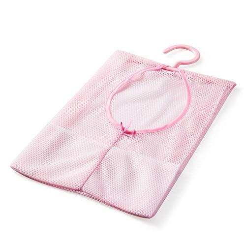 Limmc polyester mesh tas voor het ophangen van kleding speelgoed organizer multifunctionele waterprool tas diverse opbergtas voor kast rack kledinghangers Rood