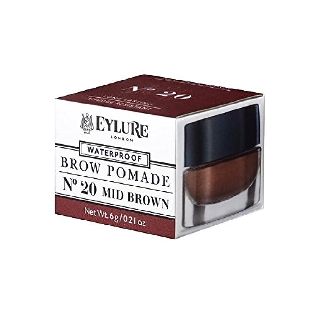 マエストロ必要一時停止Eylure Brow Pomade Mid Brown (Pack of 6) - の眉ポマードミッドブラウン x6 [並行輸入品]