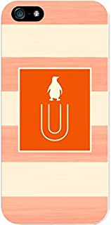 IPH5 CASE Stripes, Orange Penguin- U