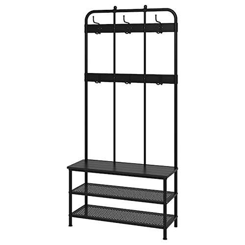 PINNIG IKEA Garderobenständer mit Bank; in schwarz; (193cm)