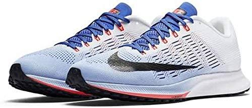 Nike Wmns Air Zoom Elite 9, Zapatillas de Running para Mujer, Varios Colores (Aluminum/White/Medium Blue/Black), 37.5 EU