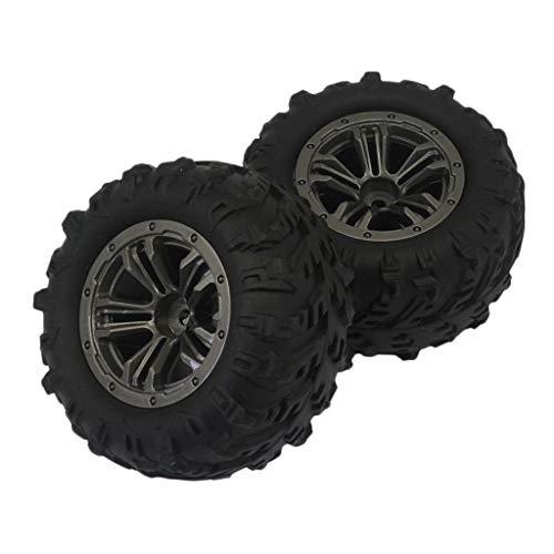 dailymall 2 Stücke Rennreifen Gummi Reifen Satz für Xinlehong Q901 Q902 Q903 RC Auto