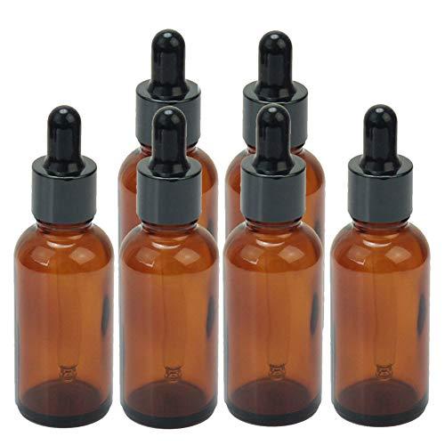 6 Pack 30ml Blanco Botellas De Vidrio ámbar Perfume Esencia Aceite Envase Cosmético Con El Vidrio Cuentagotas