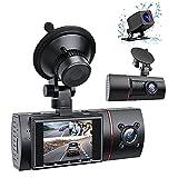 Grabador de Conducción de 3 Lentes HD 1080P Cámara de Coche de Visión Nocturna por Infrarrojos con WDR 170 ° Lente Gran Angular Grabación en Bucle Sensor de Gravedad Detección de Movimiento