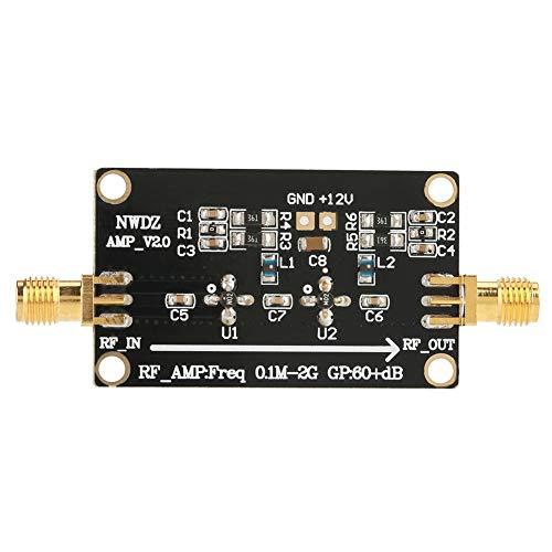 Changor Amplificador RF adecuado, amplificador RF plano, ganancia 7,5 x 3 cm, bajo ruido, con componentes de plástico y electrónicos