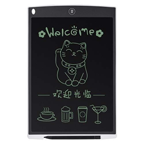 Kongqiabona Ultradun 12 inch LCD-digitaal schrijfbord tekenbord schetsen elektronisch grafisch bord met muismat wit