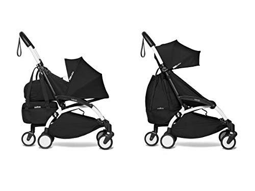Babyzen YOYO2 - Passeggino pieghevole con Yoyo+ shopping bag nero bianco 0 + 6 +