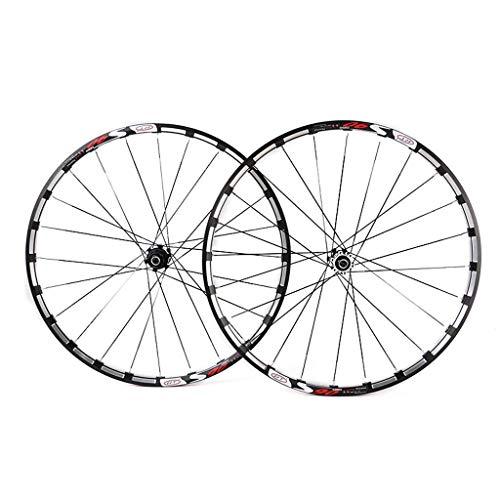 VTDOUQ Mountain bike wheel set 26, double-walled MTB wheel wheels Disc brake, quick release fastener, racing disc compatible 8 9 10 11 speed