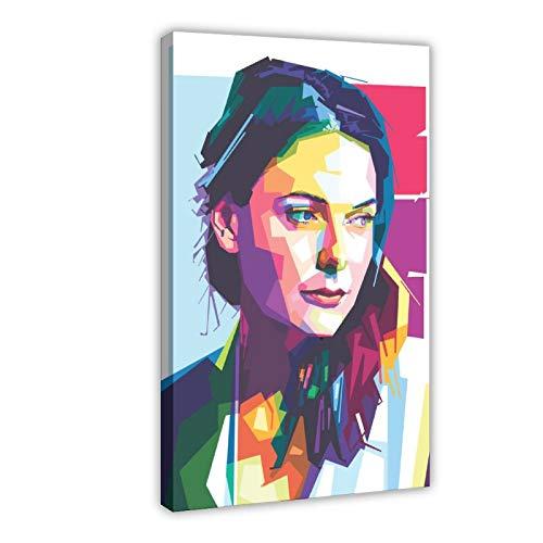 Poster su tela con film e televisione svedese Rebecca Ferguson, 13 pezzi, decorazione da parete per soggiorno, camera da letto, 60 x 90 cm