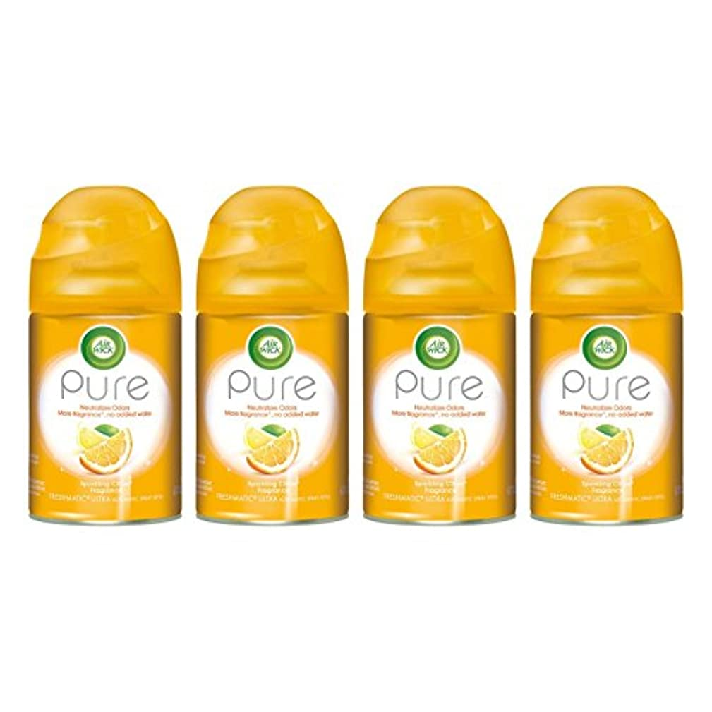 Air Wick - Pure Freshmatic Refill Automatic Spray, Sparkling Citrus, 6.17oz, Air Freshener (Pack of 4)